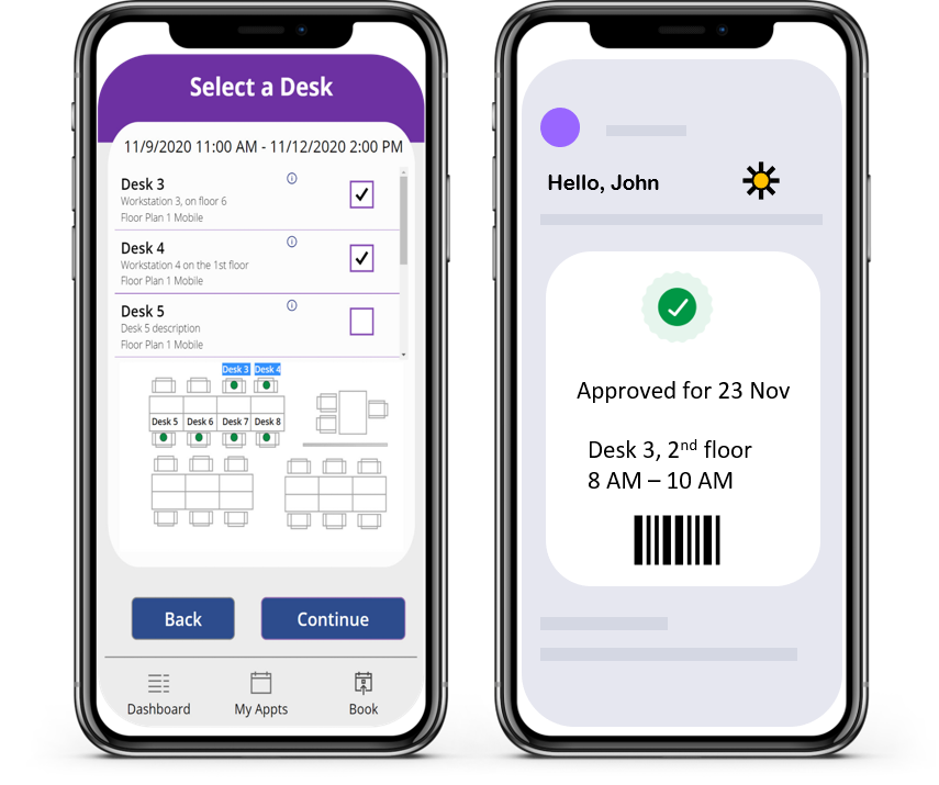 Features, Desk Booking Power Apps Room Manager 365