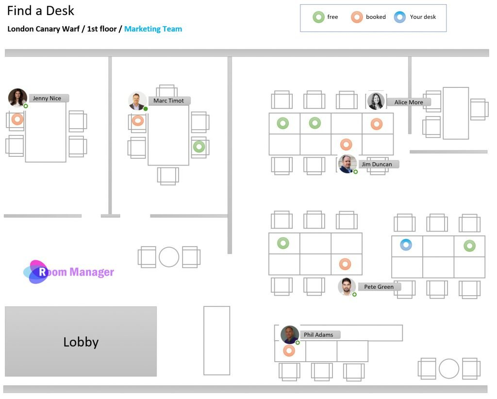 Desk Management Search people Plan Interactive